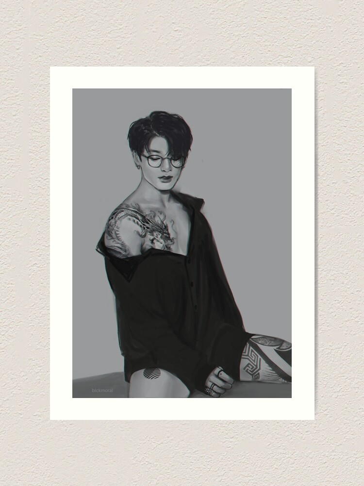 Bts Jungkook Dragon Tattoo Art Print By Dnsnrvlucide Redbubble