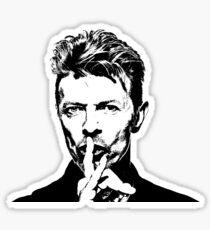 David Bowie silhouette Sticker