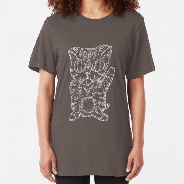 Kitty Cat - white Slim Fit T-Shirt