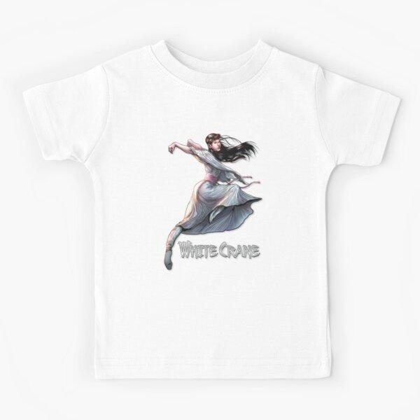White Crane kung fu Kids T-Shirt