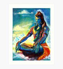 Majestic lord Shiva in Meditation Art Print