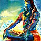 Majestic lord Shiva in Meditation by A little more Whirl