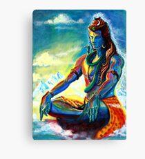 Lienzo Señor majestuoso Shiva en la meditación