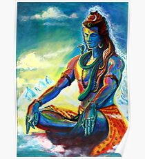 Majestic lord Shiva in Meditation Poster