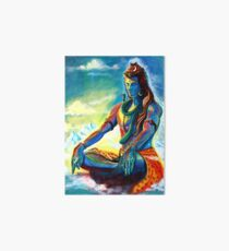 Shiva in Meditation Art Board