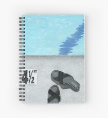 Pool Slippers Spiral Notebook