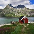 Little red boathouse by Per E. Gunnarsen