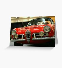Alfa Romeo Giulietta Greeting Card
