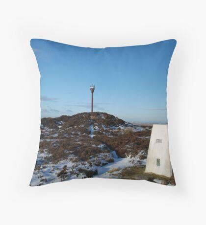 Danby Beacon in the snow Throw Pillow