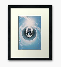 Tiny Planet Life... on The Navesink River  Framed Print