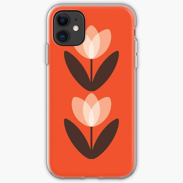 Tulip Phone Case in Coral Red iPhone Soft Case
