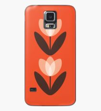 Tulip Phone Case in Coral Red Case/Skin for Samsung Galaxy
