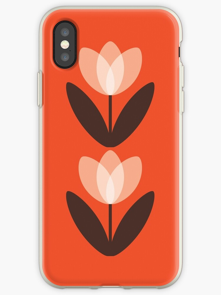 new style 9d4c8 4bef4 'Tulip Phone Case in Coral Red' iPhone Case by SuzieLondon