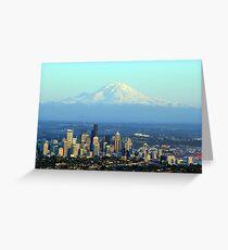 Rainier Beyond Seattle Greeting Card