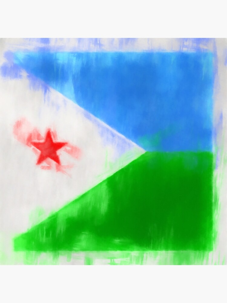 Djibouti Flag Reworked No. 2, Series 1 by 8th-and-f