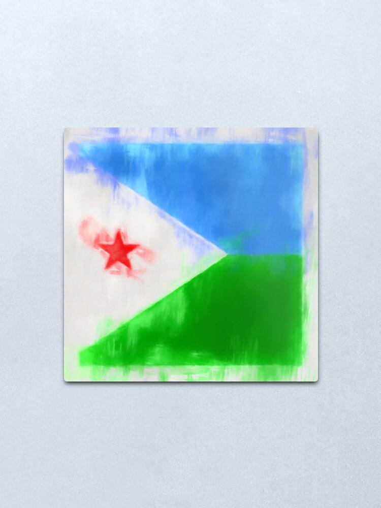 Alternate view of Djibouti Flag Reworked No. 2, Series 1 Metal Print