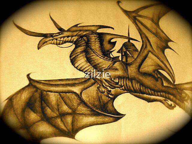 flyng dragon of depth by zilzie