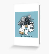 Kitten Wars Greeting Card