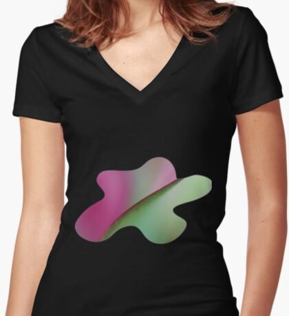 The Colors of Nature Women's Fitted V-Neck T-Shirt