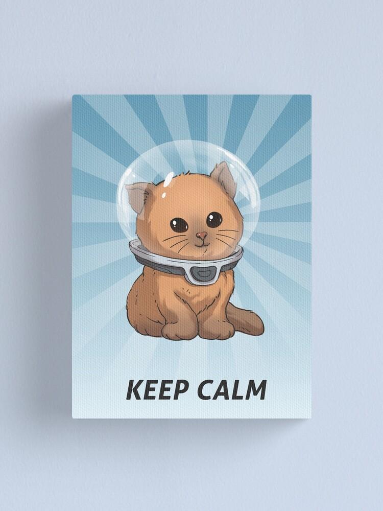 Alternate view of Keep Calm Kitty Canvas Print