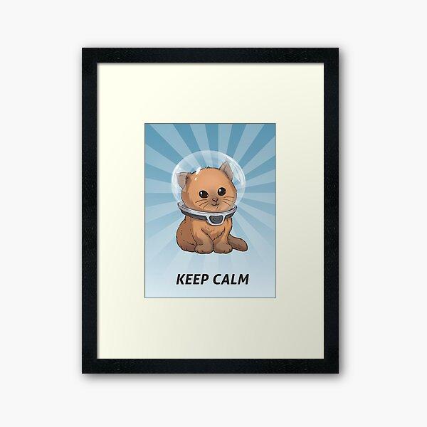 Keep Calm Kitty Framed Art Print