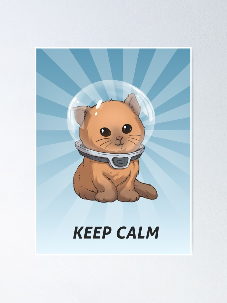 Alternate view of Keep Calm Kitty Poster