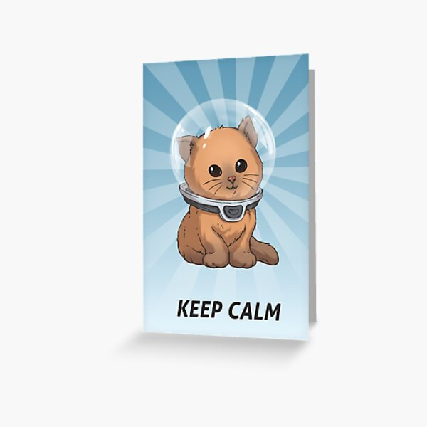 Keep Calm Kitty Greeting Card