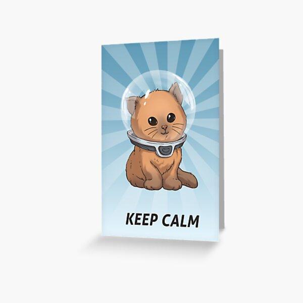 Mantenga la calma Kitty Tarjetas de felicitación