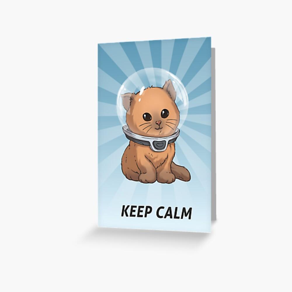 Keep Calm Kitty Greeting Card
