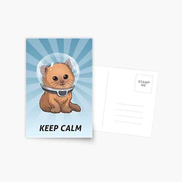 Keep Calm Kitty Postcard