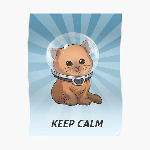 Gardez Calm Kitty Poster