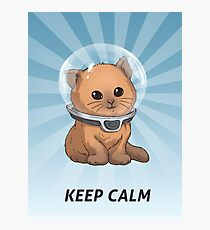 Keep Calm Kitty Photographic Print