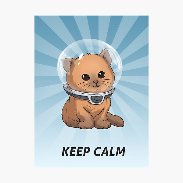 Keep Calm Kitty Photographic Print