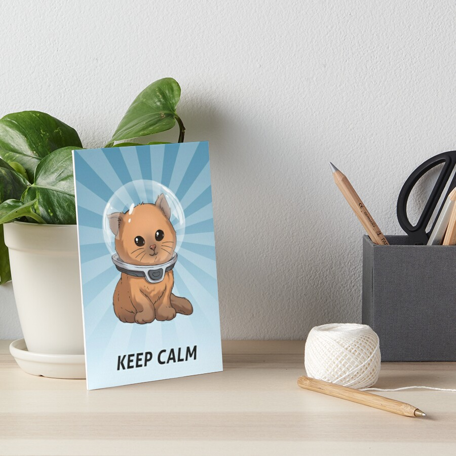 Keep Calm Kitty Art Board Print