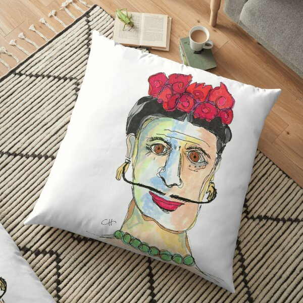 Funny Faces Floor Pillow