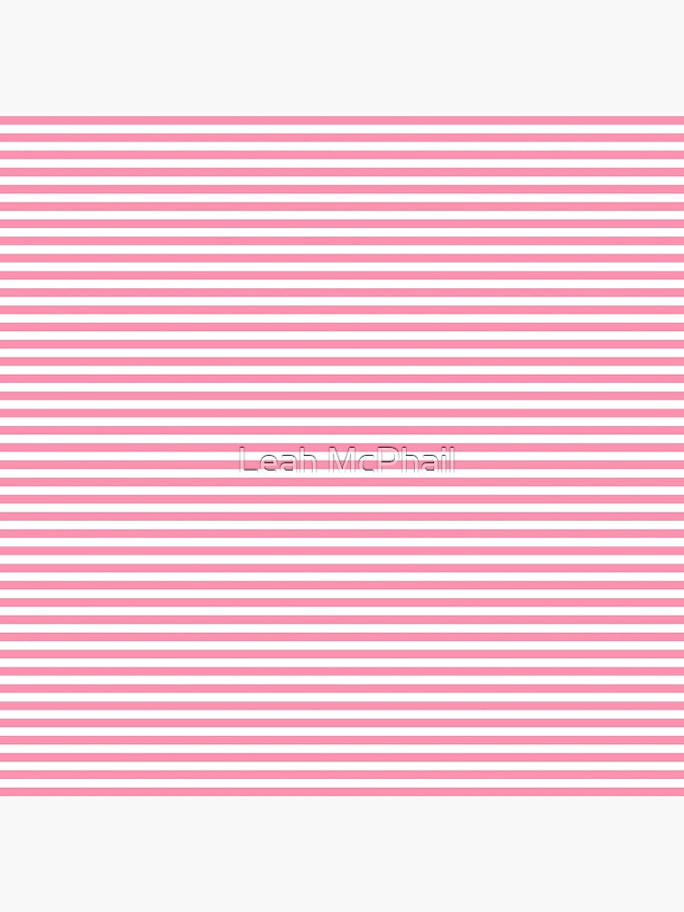 Pink and White Horizontal Stripes by LeahMcPhail