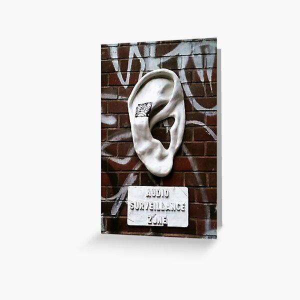 Audio Surveillance Zone, Berlin, Germany Greeting Card