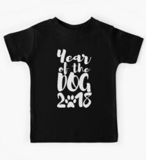Year Of The Dog 2018 Kids Tee