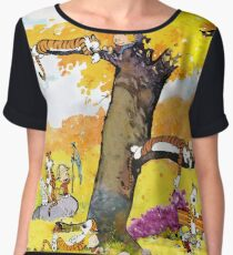 Calvin and Hobbes Mural Women's Chiffon Top