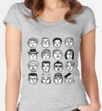 Faces in the Crowd Women's Fitted Scoop T-Shirt