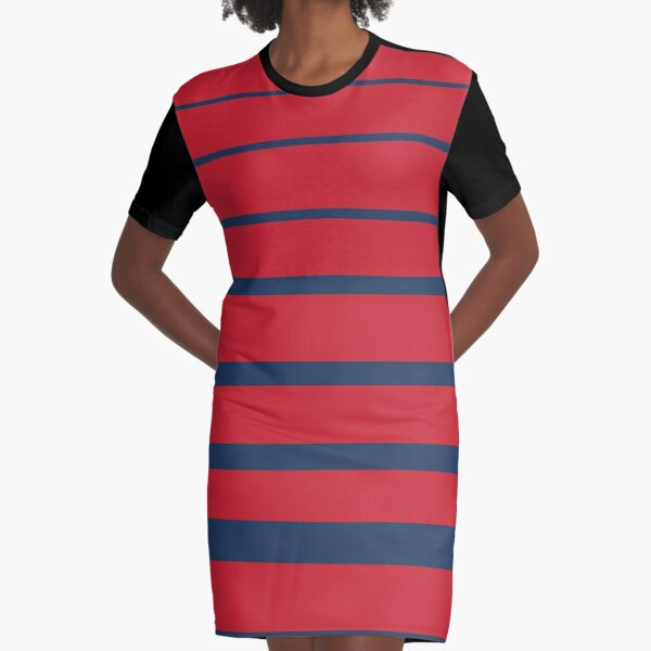 Stripes Graphic T-Shirt Dress