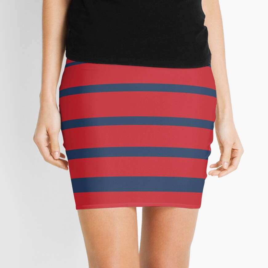 Stripes Mini Skirt
