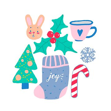 Christmas pattern by MyMoonart