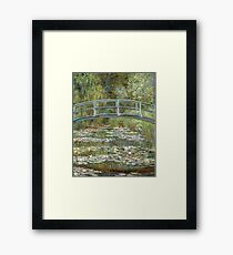 Bridge over a Pond of Water Lilies by Claude Monet Framed Print
