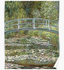 Bridge over a Pond of Water Lilies by Claude Monet Poster