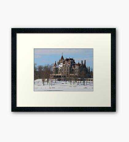 WINTRY BOLDT CASTLE Framed Print