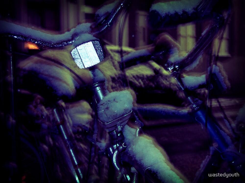 Bike in snow by wastedyouth