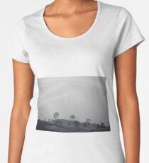 White Premium Scoop T-Shirt
