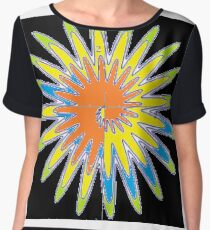 Spiral - Colored Flower Chiffon Top