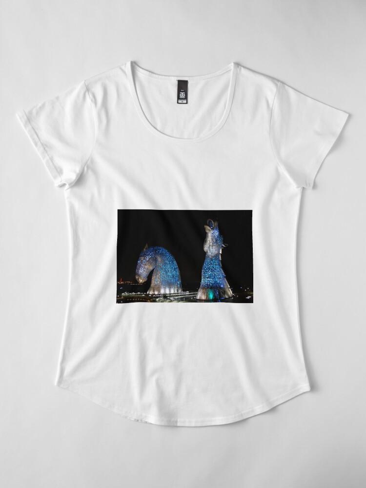 Alternate view of The Kelpies Premium Scoop T-Shirt